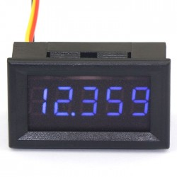 "0.36"" 5 Digits 0-33.000V Voltmeter Gauge Digital Auto Battery Monitor Red/Blue/Green LED Voltage Meter"