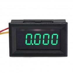 """0.36"""" 5 Digits 0-33.000V Voltmeter Gauge Digital Auto Battery Monitor Blue/Green LED Voltage Meter"""