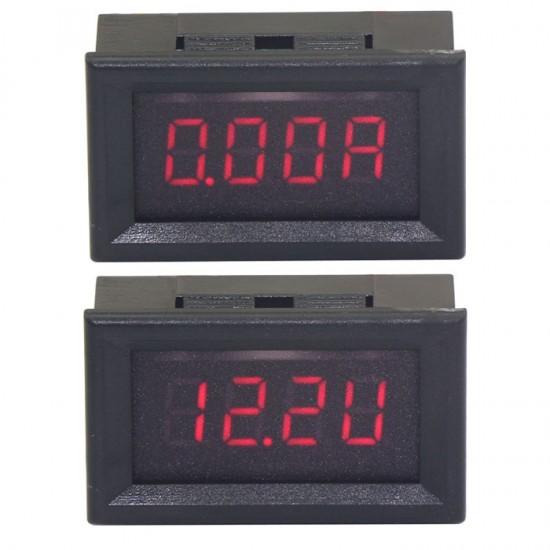 DC 10A/200V Voltage and Current Measurement Digital Volt Gauge Amp Meter Red LED