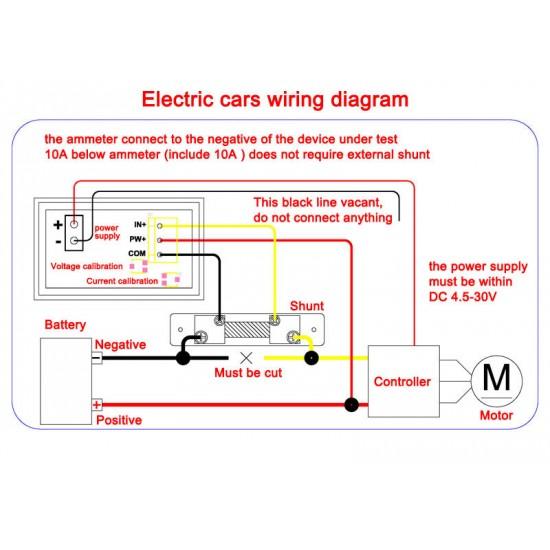 Digital Meter Dc 0 100v 100a Voltmeter Ammeter Red Led Display Voltage Current Meter Dc