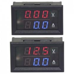 Digital Tester DC 0 ~100V/100A Voltage Current Meter DC 12V 24V Voltmeter Ammeter 2in1 Digital Panel Meter With Resistive Shunt