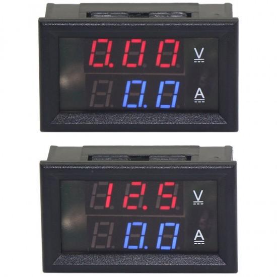 DC 6V/12V/24V Digital Tester 2in1 Dual Display Voltmeter Ammeter DC 0 ~100V/100A Red Led Volt Amp Meter With Resistive Shunt