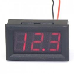 DC 12V 24V Digital Tester DC 7~ 99.9V Digital Voltmeter Red/Blue/Yellow/Green Led Display Voltage Panel Meter Volt Monitor