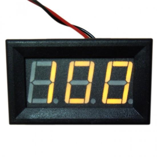 Panel Meter Two wires Voltage Test Meter DC 7~100V Red/Blue/Yellow/Green Led Display Digital Voltmeter Mini DC 12V 24V Voltage Monitor Meter