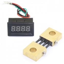 """0.36"""" DC 0-300A 6-24V Digital Ammeter Panel Ampere Gauge Meter Red LED Digital Tube with Current Meter Shunt Resistor"""
