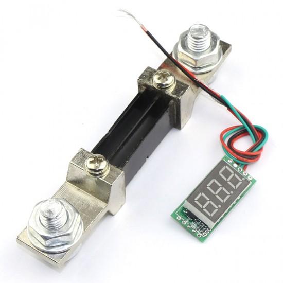 DC 0-300A Digital Current Meter Red LED Amp Meter+Amperage With Shunt Resistance