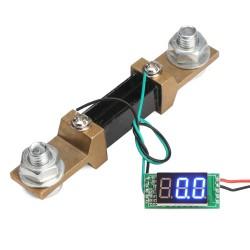 0.36 DC 0-300A Digital Current Meter Blue LED Amp Meter+Amperage With Shunt Resistance