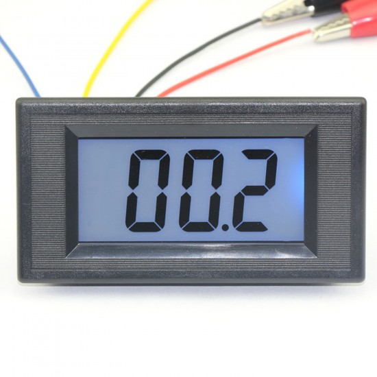 0-200 Ohms Meter Digital Ohmmeter Blue LCD Reading Resistance Testing Equipment