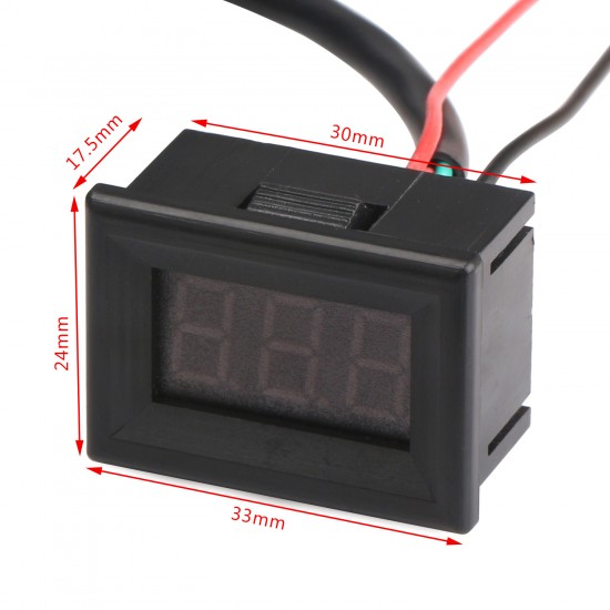 DC 12V 24V Green Led Digital Thermometer -55 ~125 Celsius Degrees Temperature Meter for Car/Water/Air/Indoor/Outdoor etc