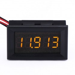Digital Meter DC 0~4.3000V~33.000V Yellow Led Voltmeter DC 12V 24V Voltage Tester/Battery Volt Panel Meter