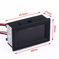 Digital Tester DC 0~4.3000V~33.000V Green Led Voltmeter DC 12V 24V Voltage Meter High-precision Volt Panel Meter