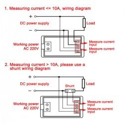 Digital Voltmeter Ammeter DC 0~200V/10A Digital Meter 2in1 Panel Meter/Monitor/Tester LCD Dual display Voltage Current Meter