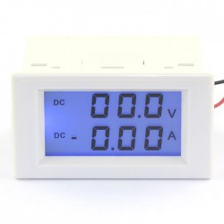 Digital Voltage Current Meter DC 0~200V/20A Voltmeter Ammeter LCD Dual display Digital Meter 2in1 Panel Meter/Monitor/Tester