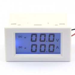 Digital Tester/Panel Meter DC 0~200V/50A Voltmeter Ammeter 2in1 Dual display Digital Voltage Current Meter