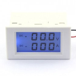 Digital Panel Meter DC 0~200V/200A Voltmeter Ammeter LCD Dual display Digital Voltage Current Meter 2in1 Digital Meter/Monitor/Tester