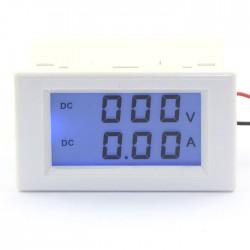 Digital Tester DC 0~600V/10A Voltmeter Ammeter LCD Dual display Digital Meter/Monitor 2in1 Voltage Ampere Meter