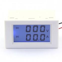 DC Voltage Ampere Meter DC 0~600V/50A Digital Voltmeter Ammeter LCD Dual display Panel Meter/Monitor/Tester 2in1 Digital Meter