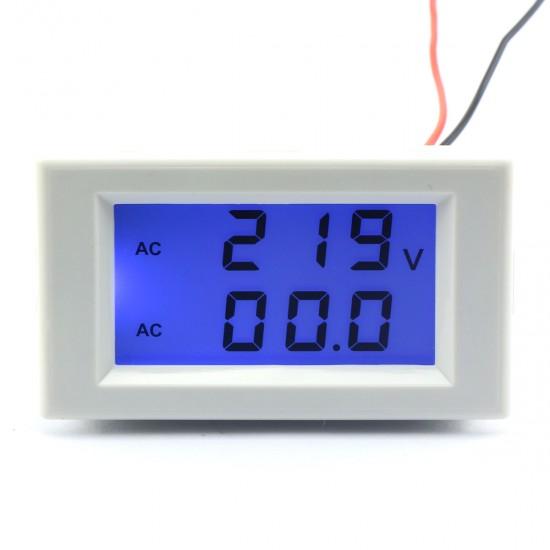 2in1 Volt Amp Panel Meter AC 200~500V/50A Voltmeter Ammeter AC 110V 220V 380V  Digital Meter/Tester + Current transformer