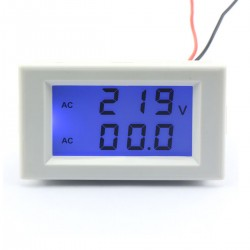 AC 100~300V/100A Voltage Current Meter 2in1 Voltmeter Ammeter AC 110V 220V Panel Meter/Monitor/Tester + Current transformer