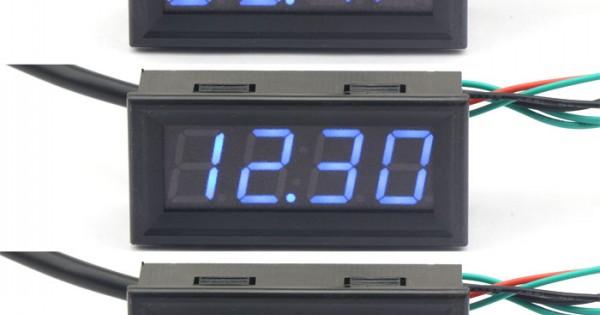 Yukiko 3 in 1 Digital LED USB Car Charger Voltmeter Thermometer Car Battery Monitor
