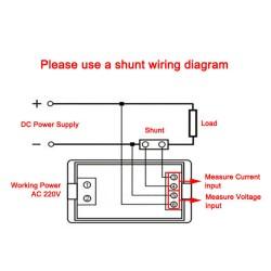DC 0-199.9V/100A LCD Voltmeter Amperemeter 2in1 Dual display Volt Amp Meter  for inverter/Charger and DIY ect