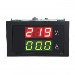 AC 80-300V/50A Dual display Voltmeter Ammeter 2in1 Volt Amp Panel Meter Built-in Current Transformer