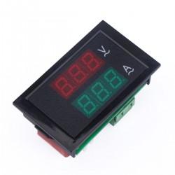 Two-color display Volt Amp Meter AC 80-300V/100A 2in1 Voltmeter Ammeter + Current transformer
