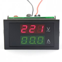 2in1 Volt Amp Panel Meter AC 200-450V/100A 3 Phase 380 Voltmeter Amperemeter + Current Transformers