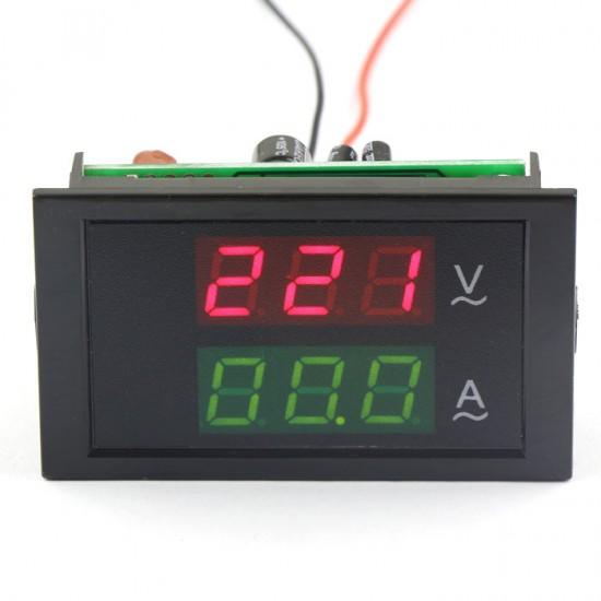 2in1 Volt Amp Panel Meter AC 200-450V/100A 3 Phase 380 Voltmeter Amperemeter + Current Transformers