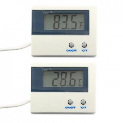 Digital Electronic Thermometer Temperature Monitor Tester 50~+80 Celsius Degree/-58~+176 Fahrenheit Degree Temperature Meter 2in1 Digital Meter