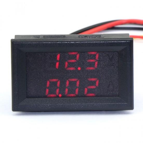 2in1 Digital Dual Voltage Current DC 100V 10A Voltmeter/Ammeter Ampere Volt LED Meter