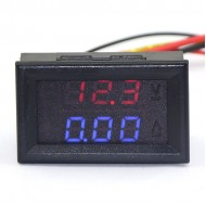 2in1 100V/10A Digital Voltmeter/Red Ammeter/Blue Current Voltage Dual LED Meter