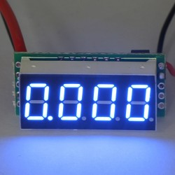 """0.36"""" DC 0~10A Red/Yellow/Blue/Green LED Digital Ammeter Four wires Current Tester Meter Built-in Shunt DC 7-30V Power Supply"""