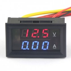 DC 300V/5A Voltage Current Monitor Meter YB27VA 0.28