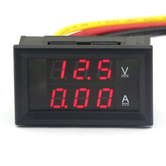 DC 4.5-30V/2A Digital Amperemeter Voltmeter Ammeter Red LED Volt Amp Meter Gauge