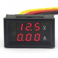 """2.5-30V DC Digital Display 0.36/"""" Panel Voltmeter LED Voltage Monitor DIY 4 Color"""