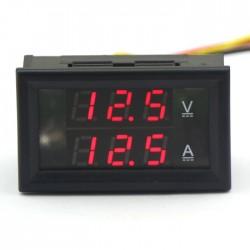 Digital Meter DC 4.5~30V/50A Red Led display Voltage Ampere Meter 2in1 Voltmeter Ammeter DC 12V 24V Panel Meter/Monitor/Tester