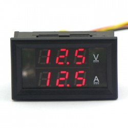 Digital Tester DC 4.5~30V/100A Voltage Current Meter 2in1 Panel Meter/Monitor/Digital Meter DC 12V 24V Voltmeter Ammeter