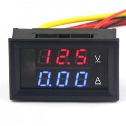 2in1 DC 300V/10A Ammeter Voltmeter Amp Volt Meter Voltage Current Gauge Red/Blue