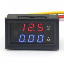 2in1 DC 4.5-30V 5A Digital Ammeter Voltmeter Red/Blue LED Dual Color Display