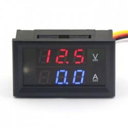 2in1 DC 30V Voltmeter 0-50A Ammeter Digital Voltage Ampere Current Panel Meter 2in1