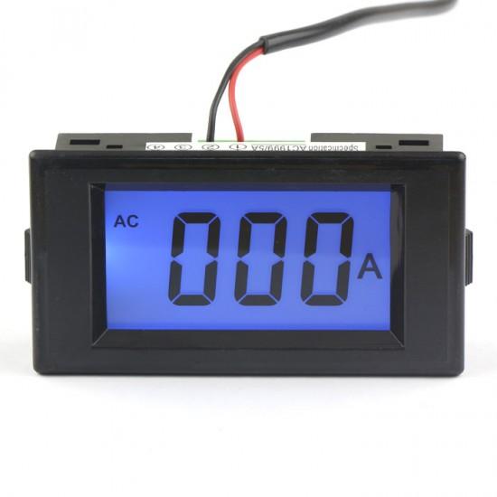 D69-40 Blue LCD Digital 0-1999A AC Ammeter Gauge 100A