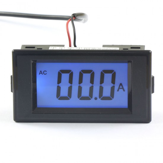 AC 100A Digital Ammeter LCD Ampere Panel Meter Amps Panel Meter Monitor Tester