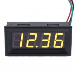 DC 0-33V Car Voltage Monitor Gauge Yellow LED Volt Panel Meter Digital Voltmeter