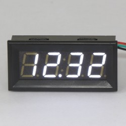 DC Digital Voltmeter DC0-33V Auto Car Voltage Meter Gauges Battery Monitor White LED