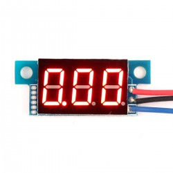 Mini Digital Voltmeter DC 0-200V Car Voltage Tester Red LED Volt Monitor 3-wire 4V-30V Powered