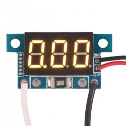 Digital Amp Meter 0-5A Current Monitor Gauges Yellow LED Panel ammeter 4V-30V Powered