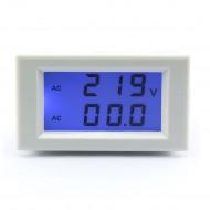 AC 200-500V/50A Digital Voltage Ampere Meter Voltmeter Ammeter with Current Transformer Sensor