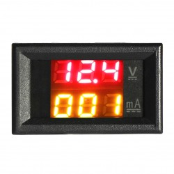 DC 33V 1A Voltage Current Meter Digital Voltmeter Ammeter Red Yellow LED Dual Display Volt Amp Meter