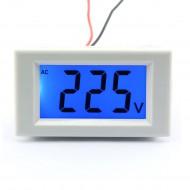 220V Blue LCD Digital Voltage Voltmeter Volt Panel Meter AC80-500V Tester 2-wire